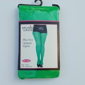 Kelly Green Tights Plus Size Green Costume Tights